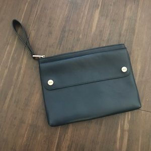 CKJ Blue Leather Clutch
